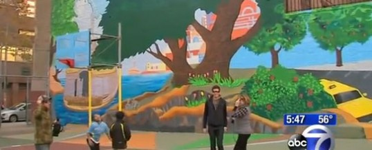 """Worlds Largest 3D Mural """"Celebrate The Heroes of Our City"""" – TV"""
